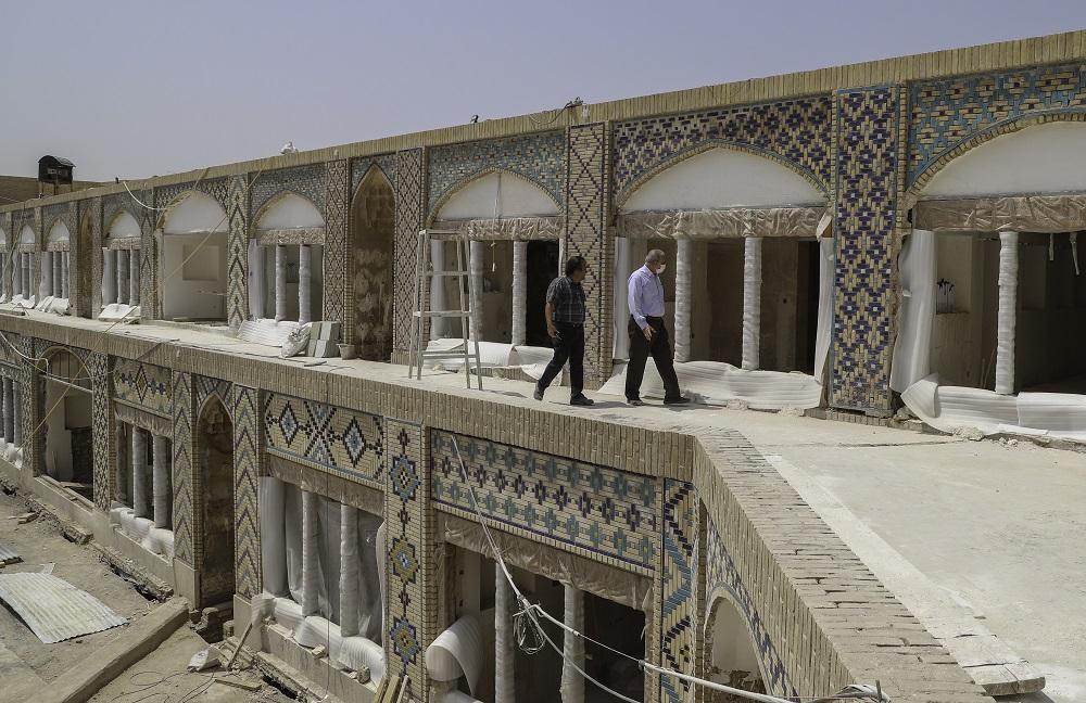 بازدید مهندس کتانباف از پروژه کاروانسرای وکیل - مردادماه 1399