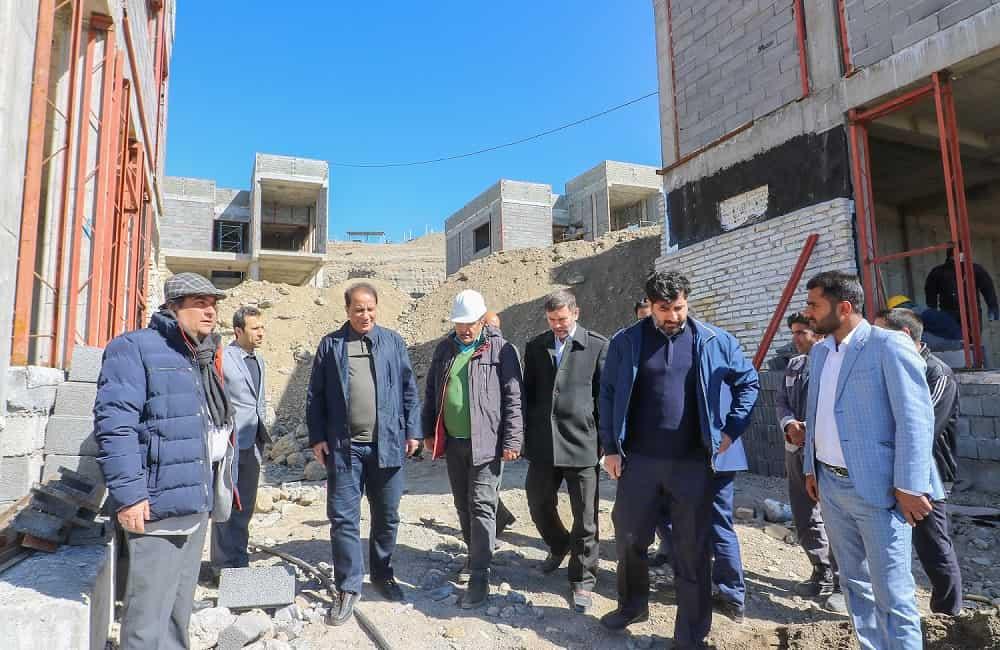 بازدید دکتر جهانگیری از پروژه هتل بافت بهمن 98