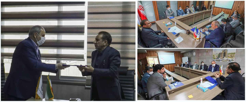 مراسم معارفه مدیرعامل شرکت تندیس تجارت باختر برگزار شد