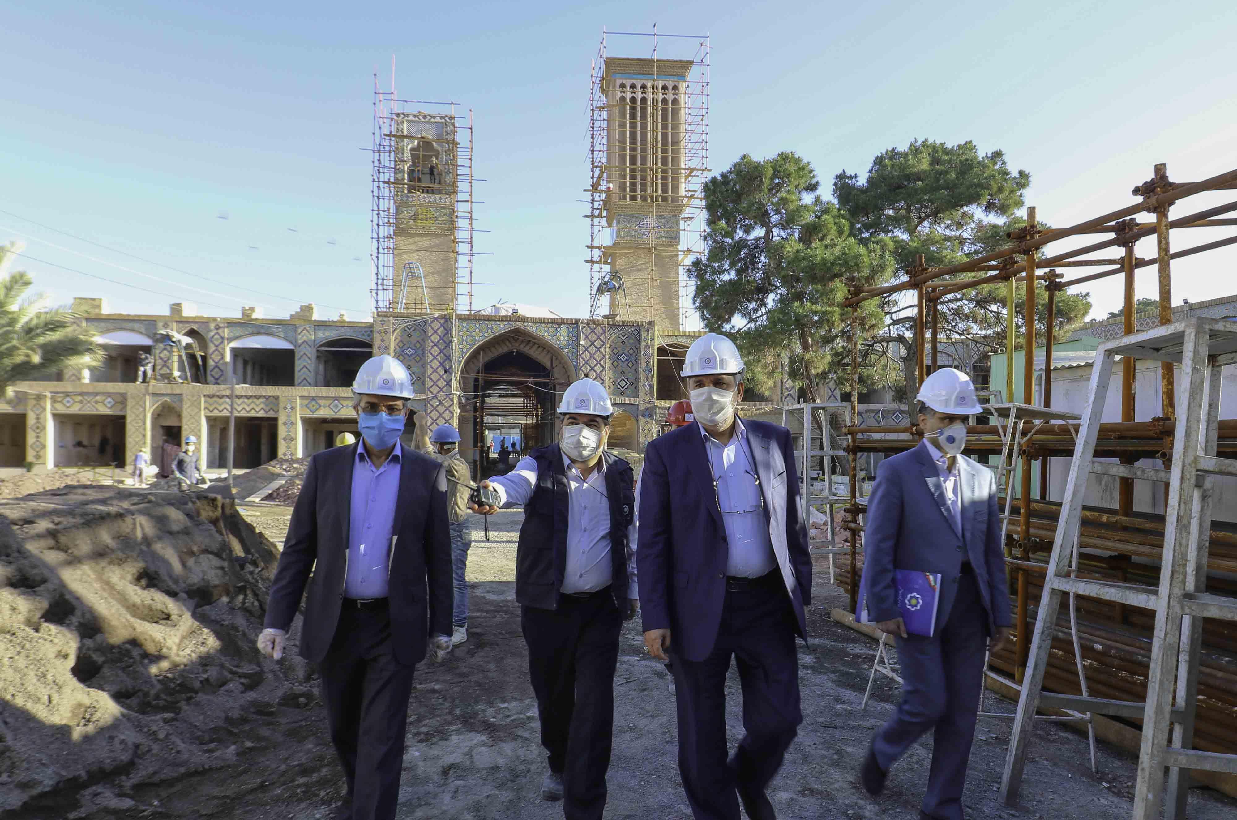 بازدیدمهندس کتانباف از پروژه  وکیل -اردیبشت 99