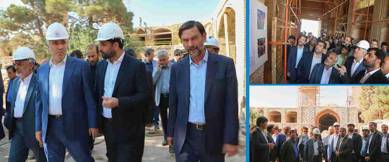 وزیر گردشگری ، میراث فرهنگی و صنایع دستی از پروژه کاروانسرای وکیل بازدید کرد