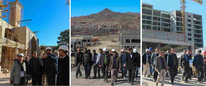 بازدید رئیس گروه مالی گردشگری ، از پروژه های شرکت تندیس در استان کرمان