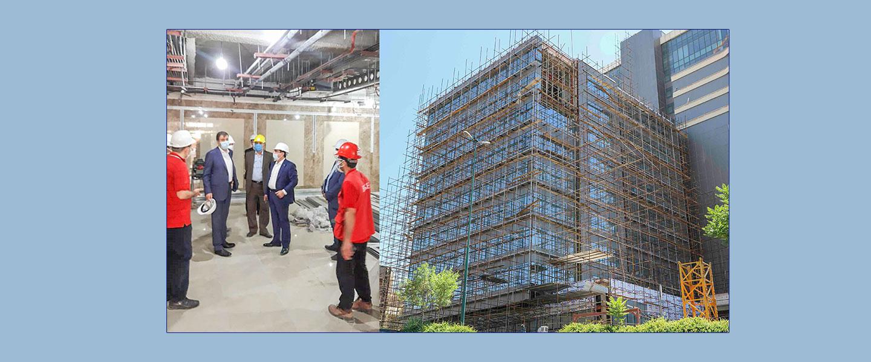 بازدید مدیرعامل بانک گردشگری از پروژه اداری تجاری و پارکینگ مکانیزه فرهنگ 2