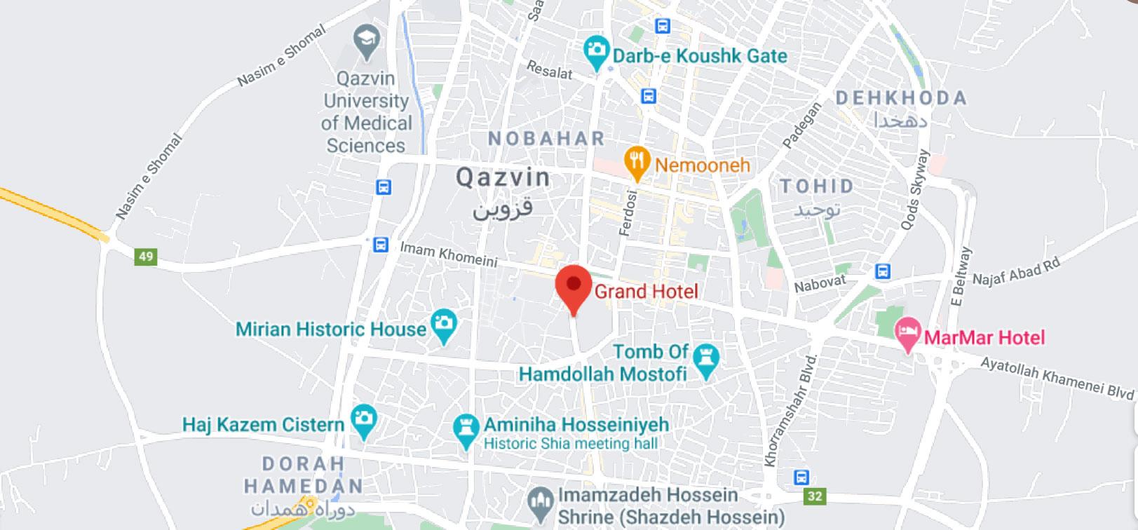 پروژه مرمت و بازسازی گراند هتل قزوین